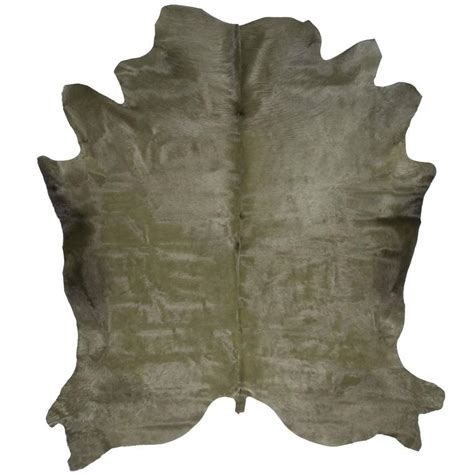 Green Cowhide Rug green cowhide rug for sale at 1stdibs