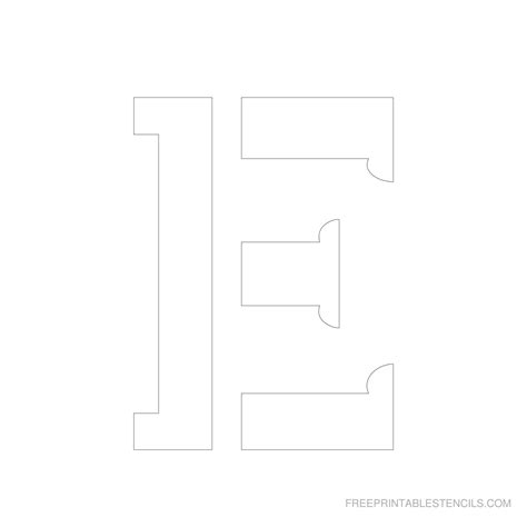 8 Inch Letter Stencils Printable