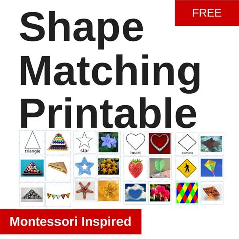 printable montessori cards free shape matching printable montessori cards montessori