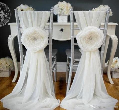 2018 2015 White Wedding Decorations Chair Covers Sash For