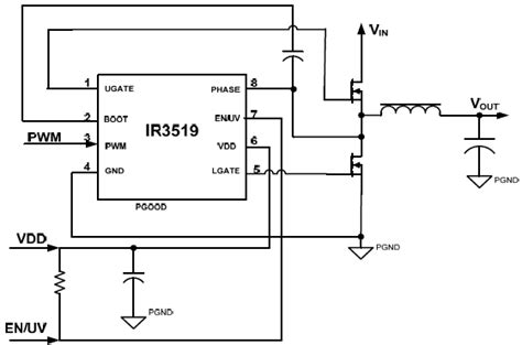 transistor fet driver circuit international rectifier ir3519s synchronous mosfet gate driver ic with extended voltage