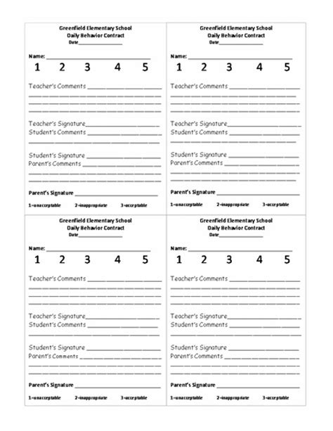 Behavior Report Templates For School 23 Best Images About Daily Behavior Reports On