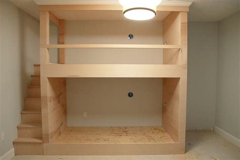 Built In Bunk Beds Plans One Room Challenge Week 2 Diy Built In Bunkbeds For Around 700 Chris
