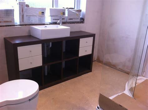 new bathroom with kitchen cupboards ikea hackers ikea expedit and the bathroom sink ikea hackers ikea hackers