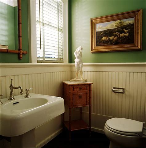 wainscot in bathroom twine how to update a 70 s bathroom