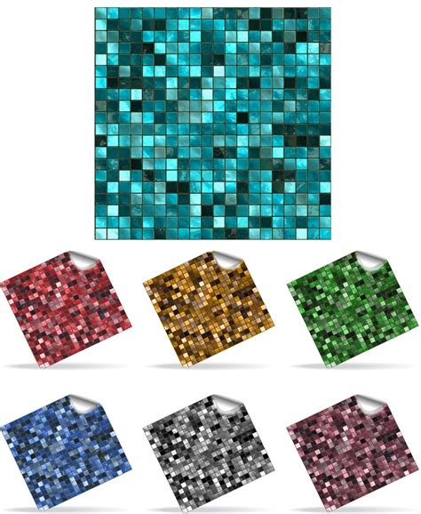 Tile Stickers For Bathroom 30 Self Adhesive Mosaic Wall Tile Decal Transfers For 6 X 6 Inch Tiles Simply Peel And Stick