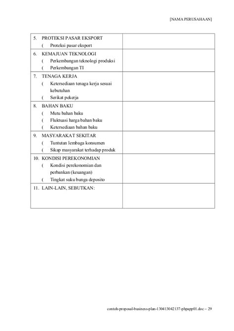 contoh format laporan business plan contoh proposal business plan