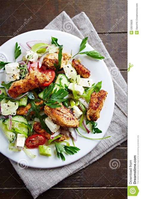 developing households want space and a garden mediterranean style salad royalty free stock photo