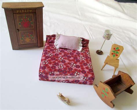 schlafzimmer 70er stil 70er puppenhaus holz schlafzimmer m 214 bel schrank bett le