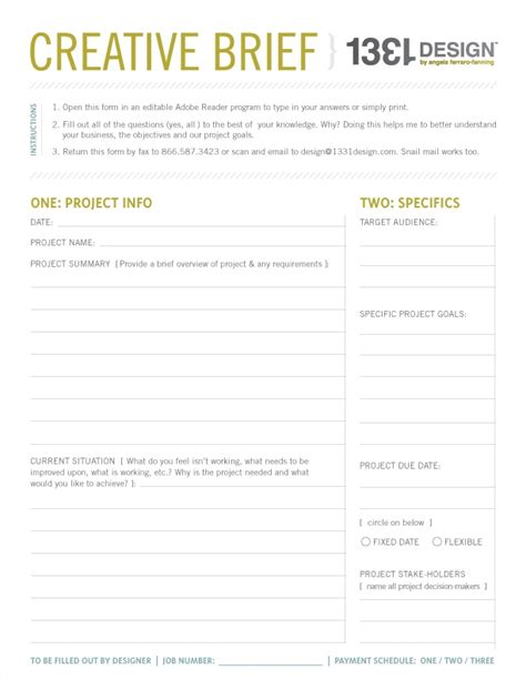 House Design Brief Template For Architect sle briefs