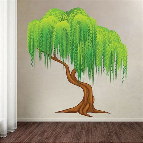 tree wall mural decal weeping willow tree mural decal tree wall decals large