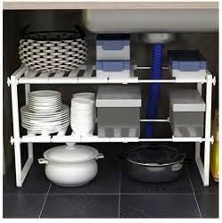 bathroom sink rack white adjustable extendable multi purpose kitchen bathroom