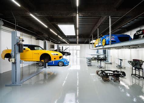 layout car repair workshop for honda fans beautiful garage in japan