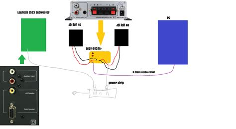 wiring diagram for logitech speakers style by