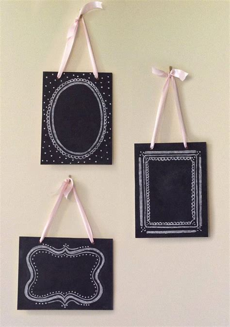 shabby chic chalkboards items similar to set of 3 vintage chalkboards shabby