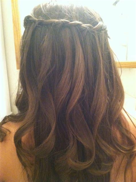 waterfall braid history waterfall braid with curls roseanna c s photo beautylish
