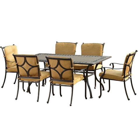 Patio Dining Sets Montreal Sunjoy Montreal 7 Patio Dining Set With Wheat