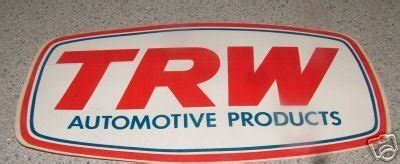 trw sticker nos new original 3/4 x 3'' plastic peel & stick