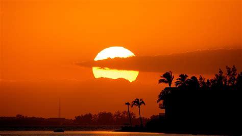 sunset orange sky nature blue sun sunset orange clouds sunrise colors