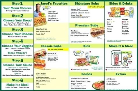 printable subway menu canada prices calendar 2018