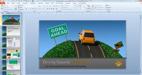 Traffic Road Templates For Powerpoint Presentations Powerpoint Presentation Microsoft Powerpoint Templates Road