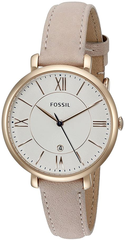 fossil jacqueline date leather deluxe timepieces