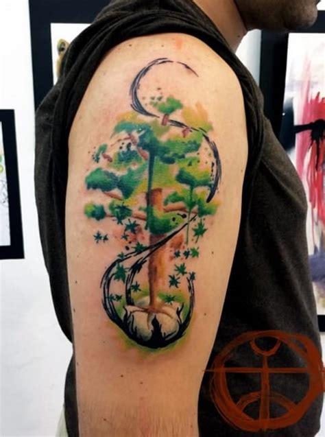 watercolor tattoos glasgow watercolor tattoos beauteous trees tattoodo