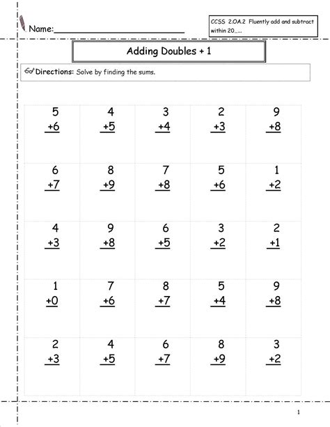 Grade Math Addition Worksheets by 1st Grade Math Worksheets Free Loving Printable
