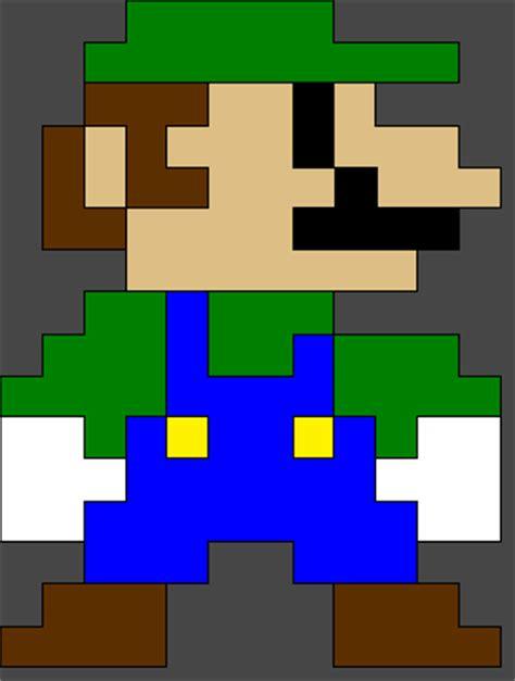 famous characters in pixel art mario and luigi pixel luigi by evilcarcrash on deviantart