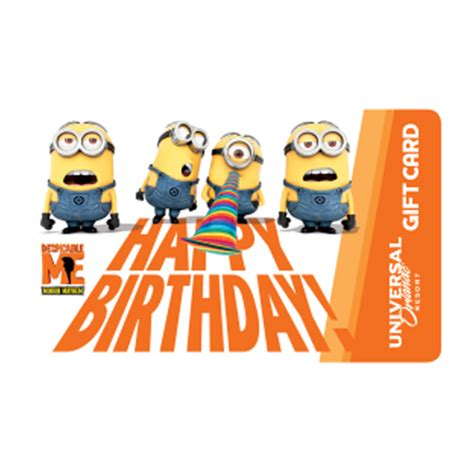 Gift Card Universal - your wdw store universal collectible gift card minions happy birthday