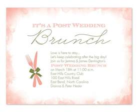 wording for wedding breakfast invitation post wedding brunch invitations by invitation