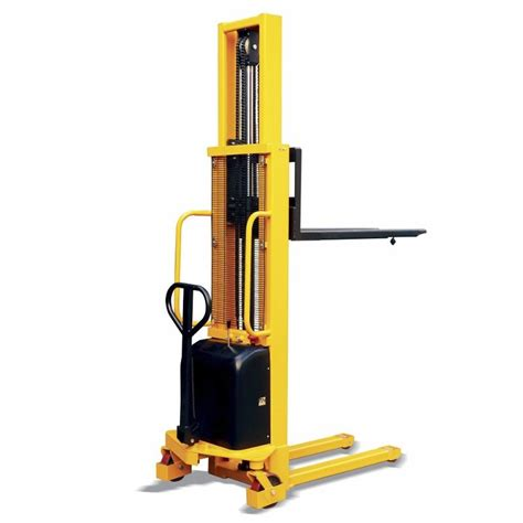 Stacker Manual Kap 1 5ton Lifting 2 5mtr New semi electric stacker forklift lift 1 ton 1 5 ton 2 ton