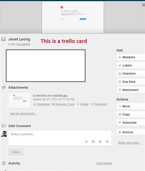 how do i set up a trello card template trello card