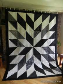 night owl quilting dye works black and white hst quilt