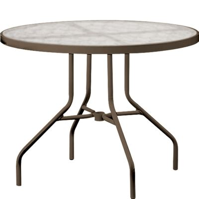 Tropitone 670 Acrylic And Glass Tables 36 Inch Round 36 Inch Glass Dining Table