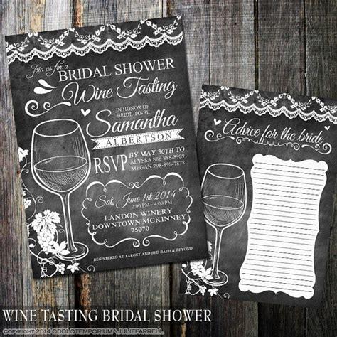 wine tasting wedding shower any color chalkboard wine tasting bridal shower invitations