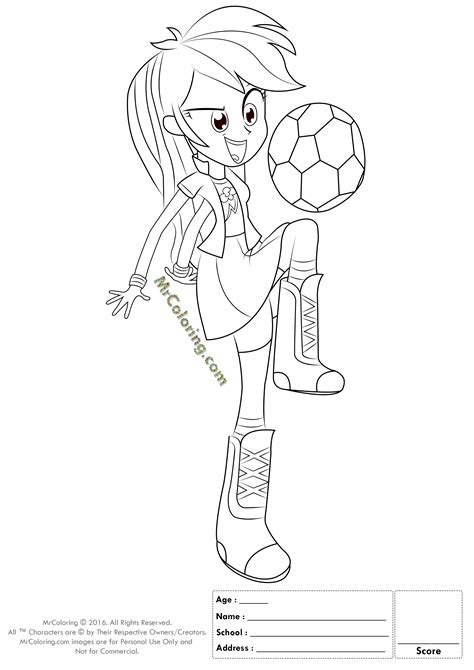My Little Pony Coloring Pages Rainbow Dash Equestria Girls Equestria Rainbow Dash Coloring Pages Free