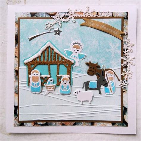 Marianne Frosty Set Of 10 marianne design collectables cutting dies nativity set col1395 buddly crafts