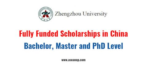 Fully Funded Mba Scholarships by China Asean Scholarships Opportunities
