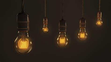 hanging light bulbs a quintet of vintage hanging light bulbs a brown