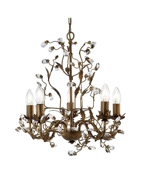 Lighting Chandeliers Traditional Searchlight Almandite 5 Light Traditional Chandelier 2495 5br