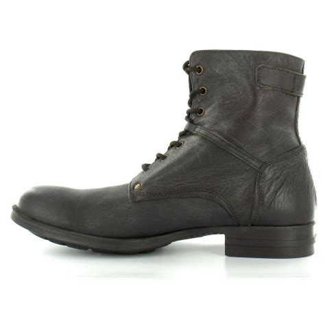 bronx mens boots bronx bronx 43394 mens leather 7 eylet zip high ankle