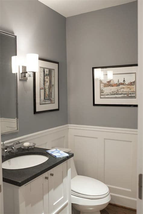 install wainscoting powder room traditional