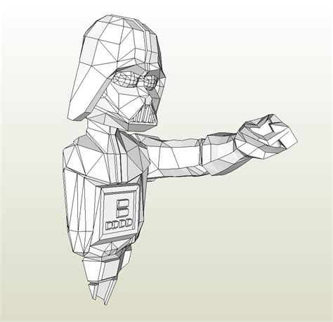 Wars Papercraft Templates by Papercraft Pdo File Template For Wars Darth Vader