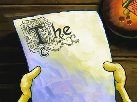 Spongebob Doing Essay by The Krabby Kronicle