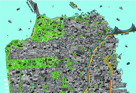 sparks san francisco map an insanely detailed map of san francisco