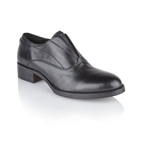 buy ravel slip on shoes in black leather