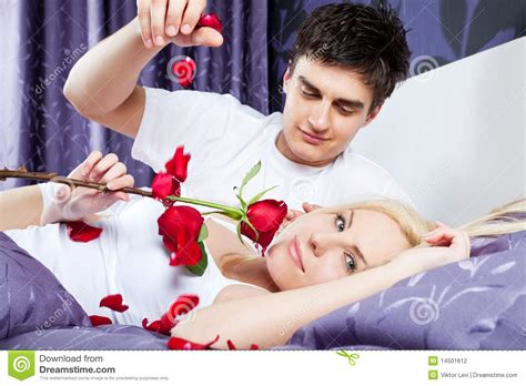 romantic couple in bed images love romantic couple bed stock photography image 14501612