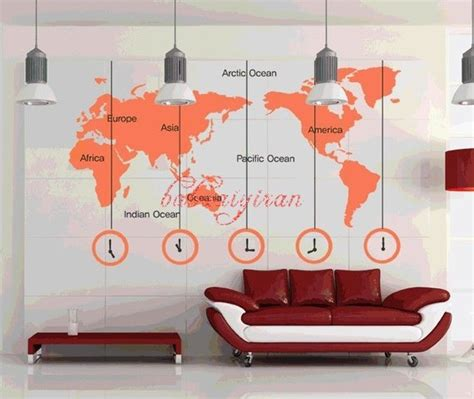 large wall stickers map of the world vinyl wall sticker by babaaiyiran contemporary wall decals by etsy