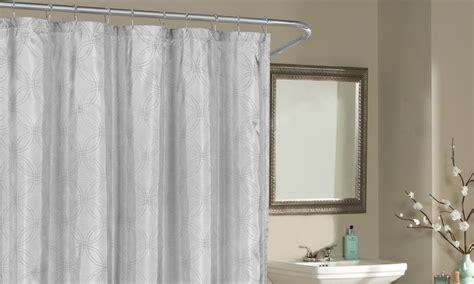 metallic shower curtain belle metallic shower curtain groupon goods